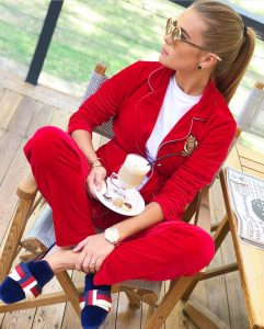 Red velvet luxury fashion coordinates