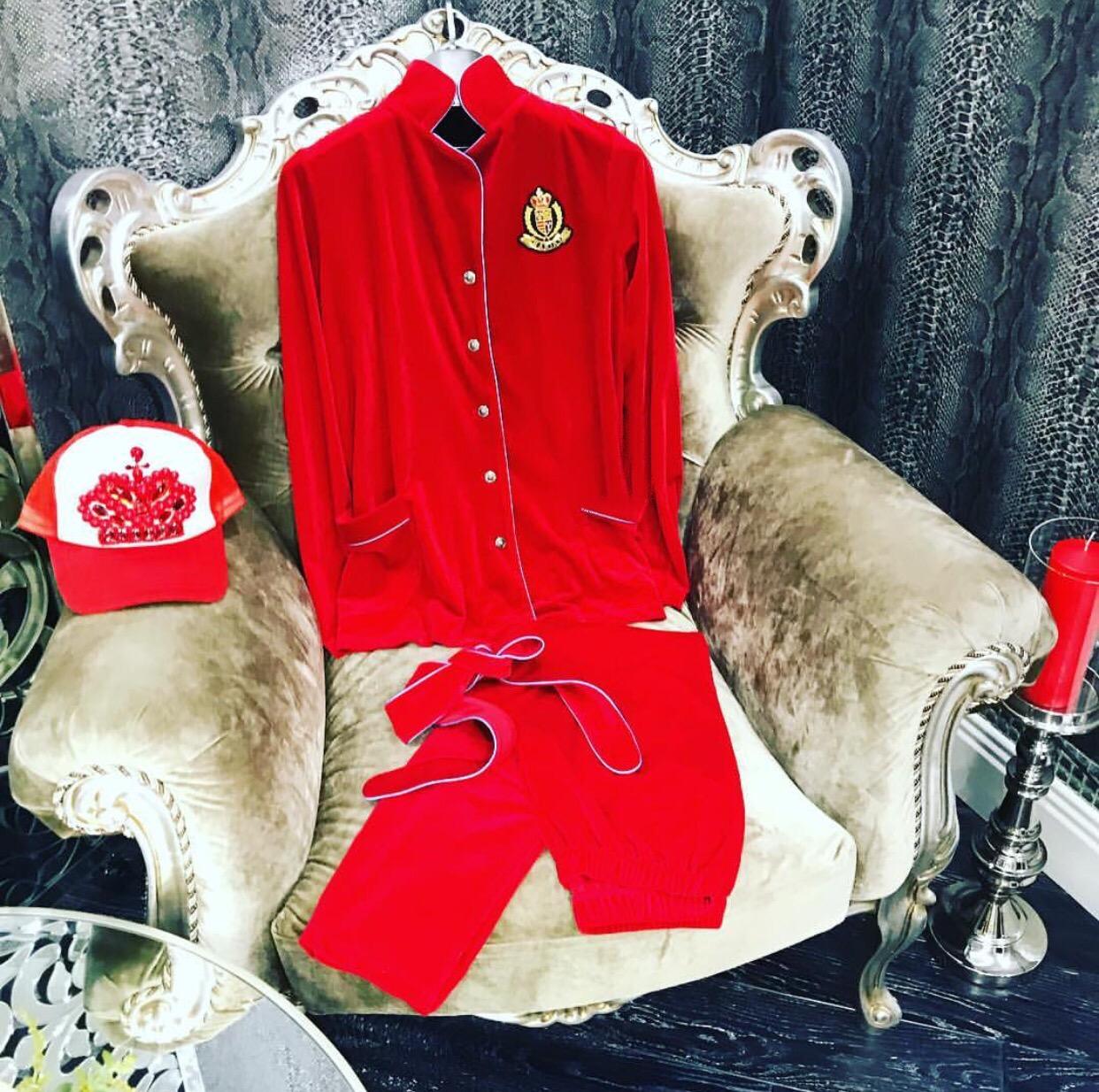 Red velvet luxury fashion coordinates