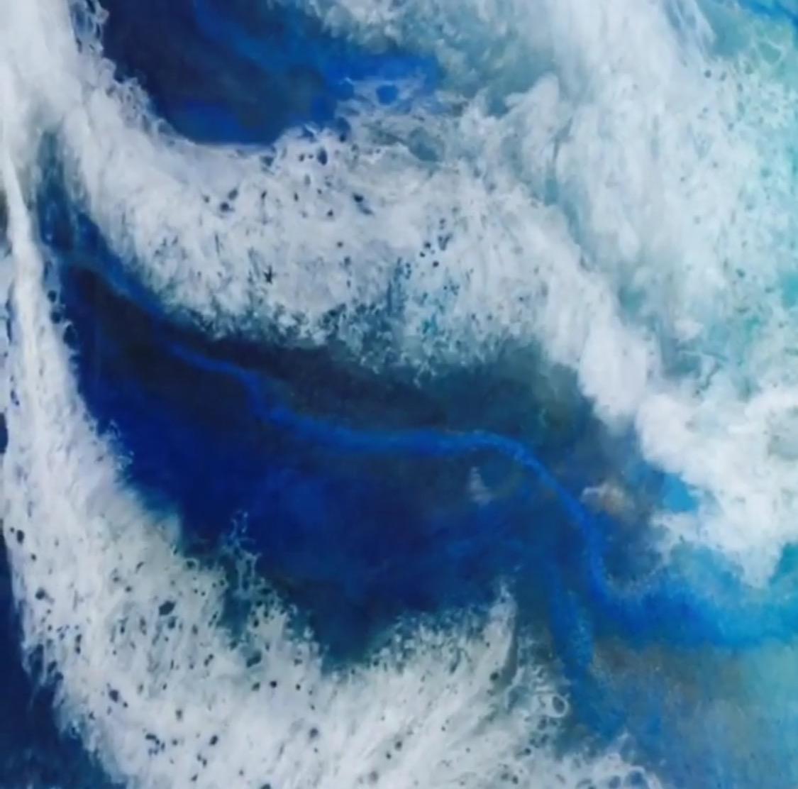 Thrashing waves Art
