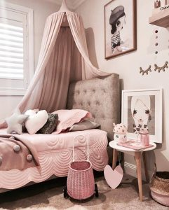 Pink kids bedroom theme
