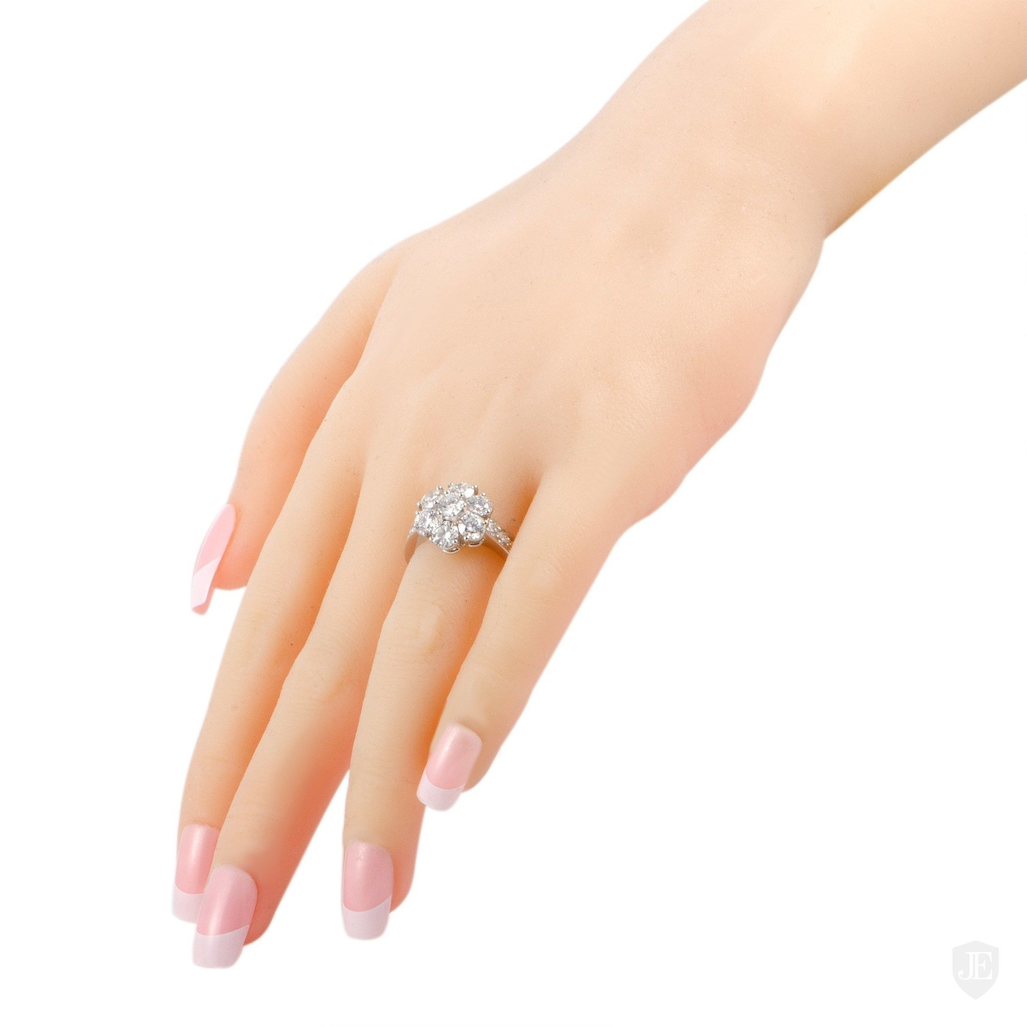 Graff Platinum Diamond Flower Ring