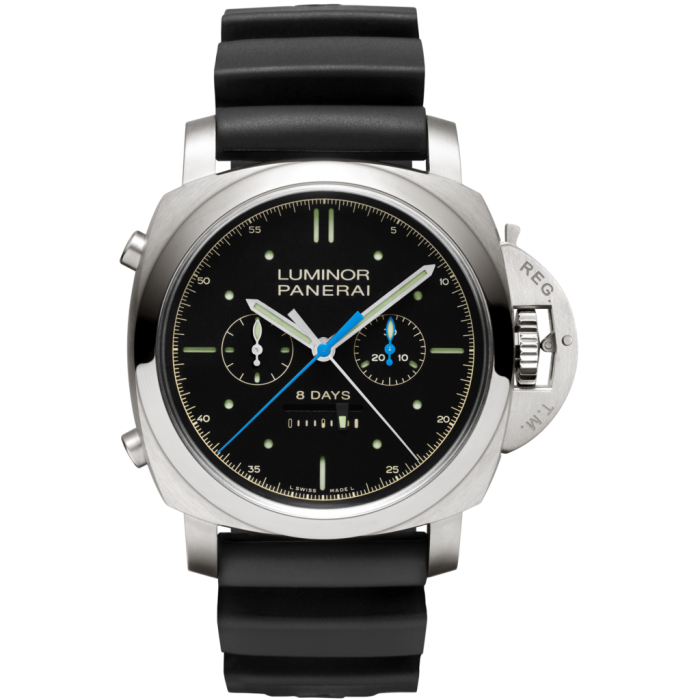 PANERAI Luminor 1950 Rattrapante 8 Days Titanio PAM00530 Titanium Watch PAM 530
