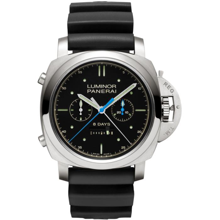 PANERAI Luminor 1950 Rattrapante 8 Days Titanio PAM00530 Titanium Watch PAM 530