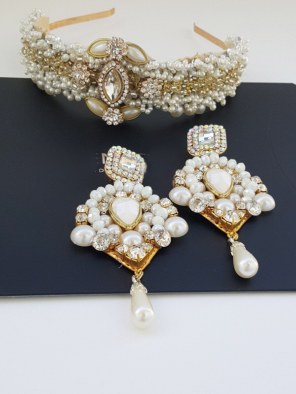 Royal crown and earring set