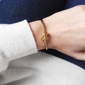Metallic Knot Bangle
