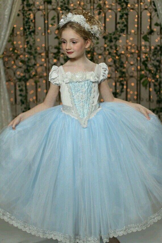 Elegant vintage kids couture gown