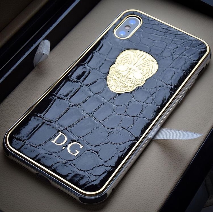 Nilo crocodile skin skull phone case