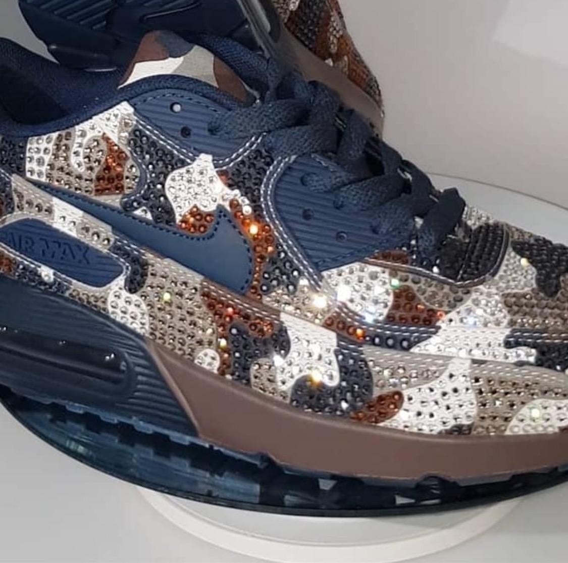 Embellished Nike kicks