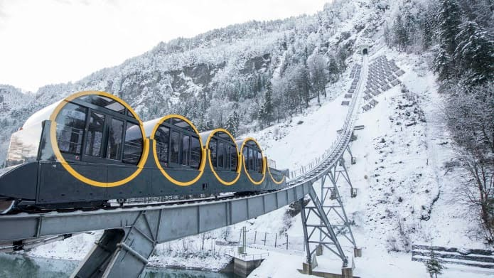 The world's steepest funicular railway