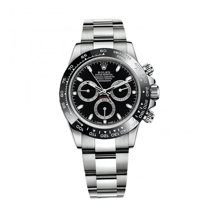 ROLEX Cosmograph Daytona 116500LN Stainless Steel Watch (Black)