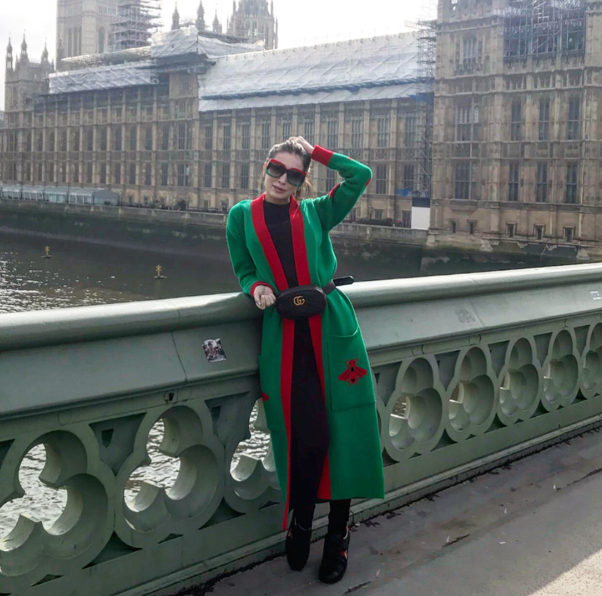 Green Insect Cardigan