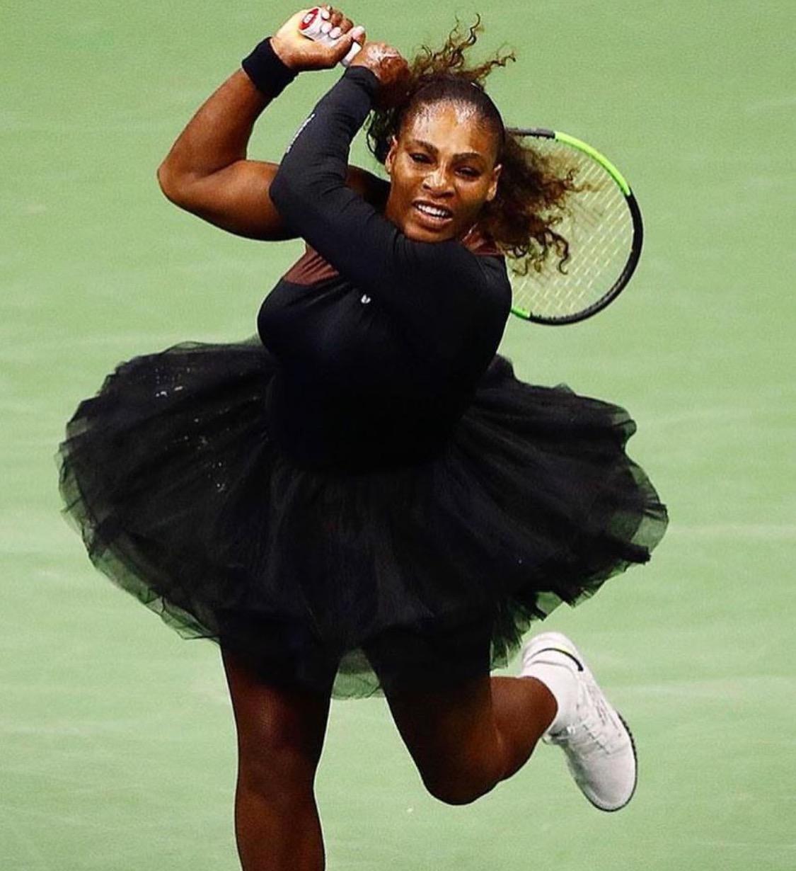 Serena Williams' makes the biggest US Open fashion statement: tutu and biker jacket look