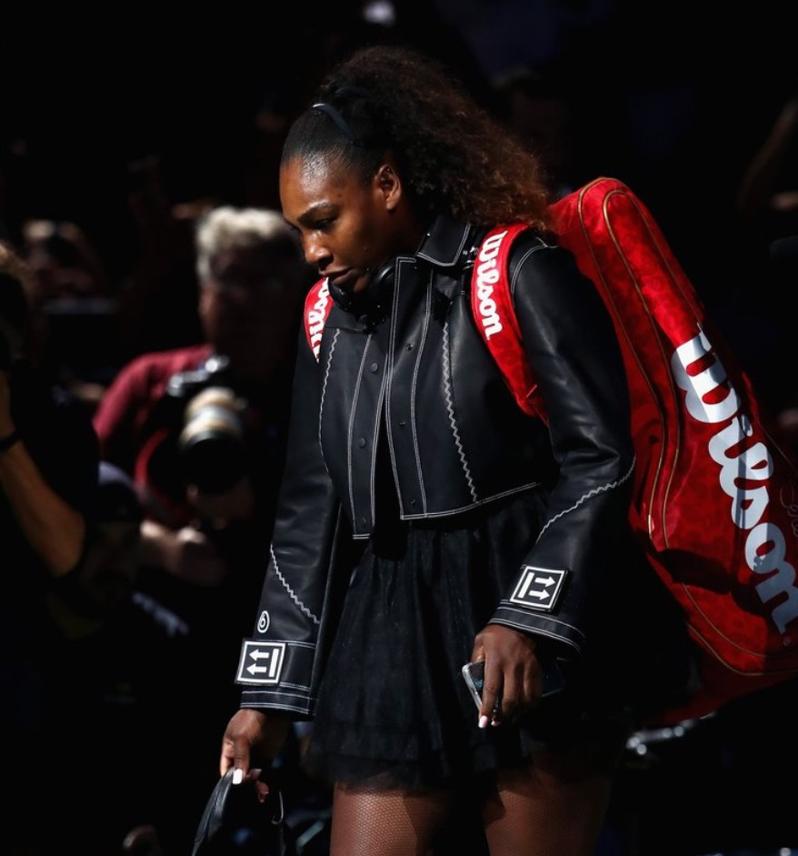 Serena Williams' makes the biggest US Open fashion statement: tutu and biker jacket look
