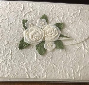 Luxury Handmade paper wedding card