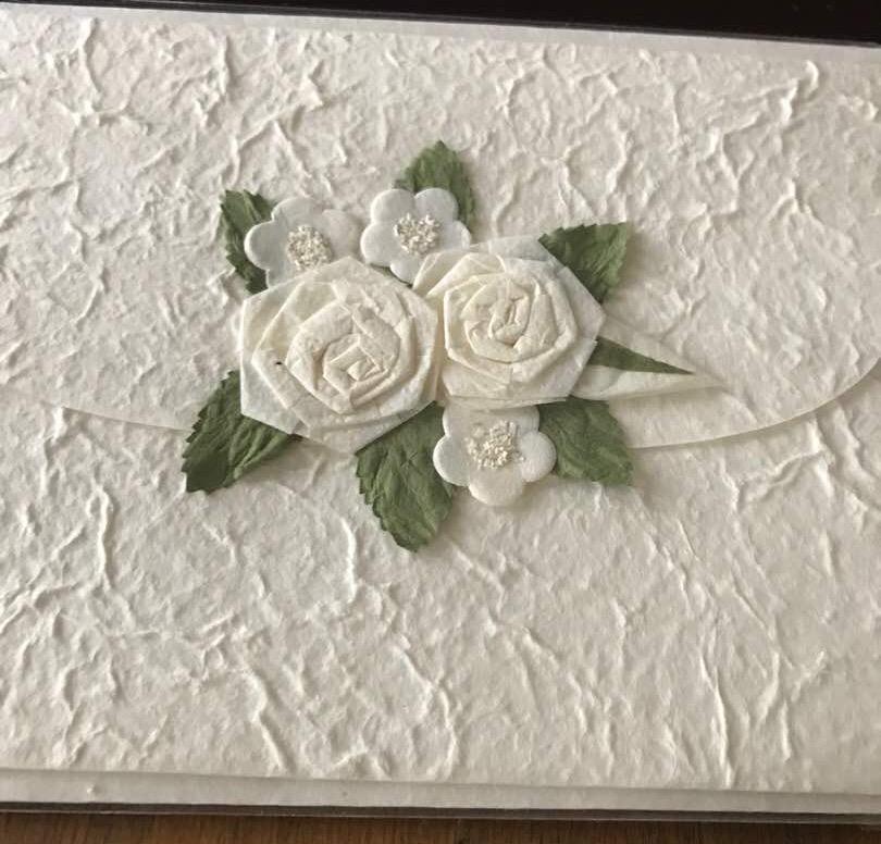 Luxury Handmade paper wedding card