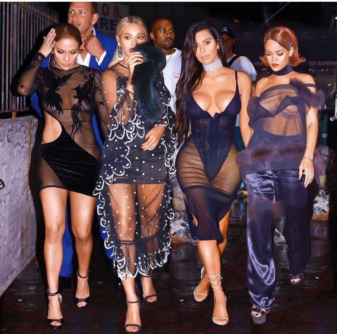 Beyonce, Kim, JLo, Riri all in one fest