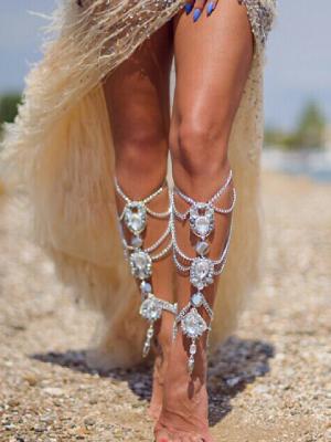 Silver leg chain