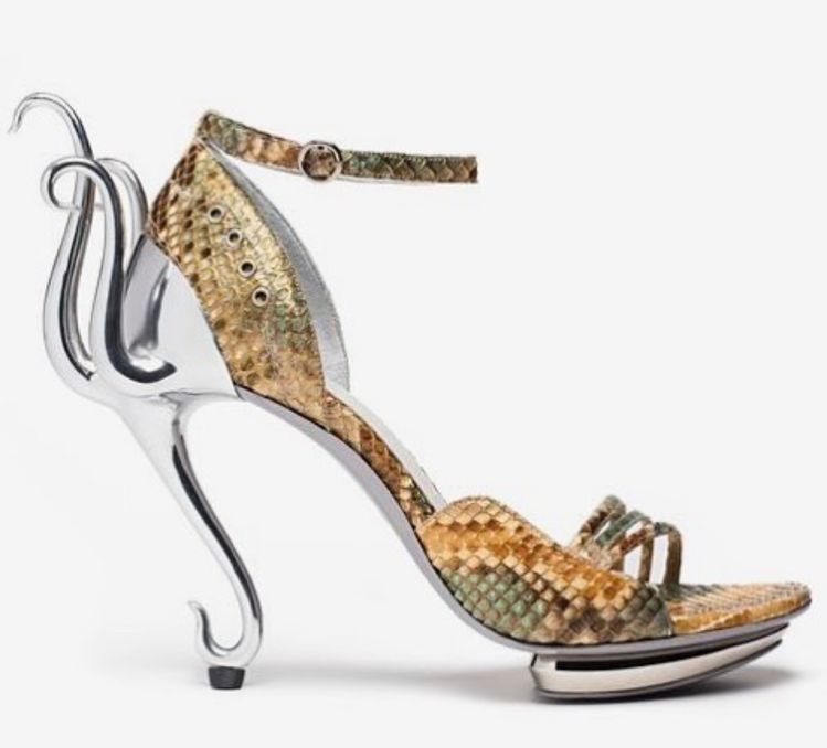 Serpentine couture shoes