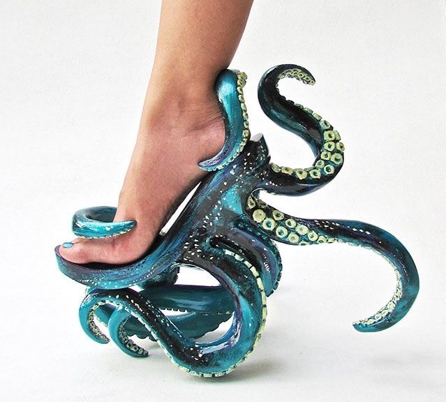 Luxury Octopus couture women's shoes