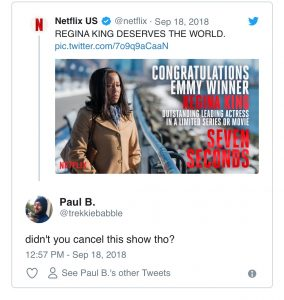 Netflix massacred on twitter over Regina King win