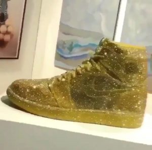 Gold Embellished Nike Air Jordan