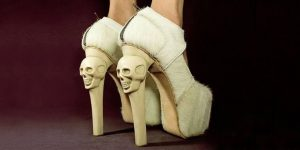 Skull couture women's shoes