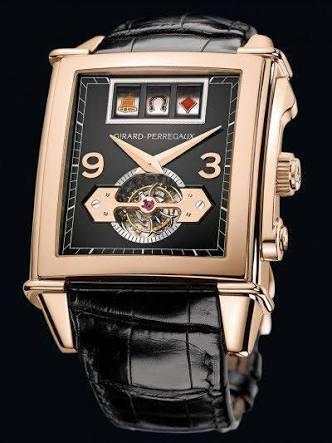 Girard Perregaux Vintage 1945 Jackpot Tourbillon 99720-52-651-BA6A Rose Gold Watch