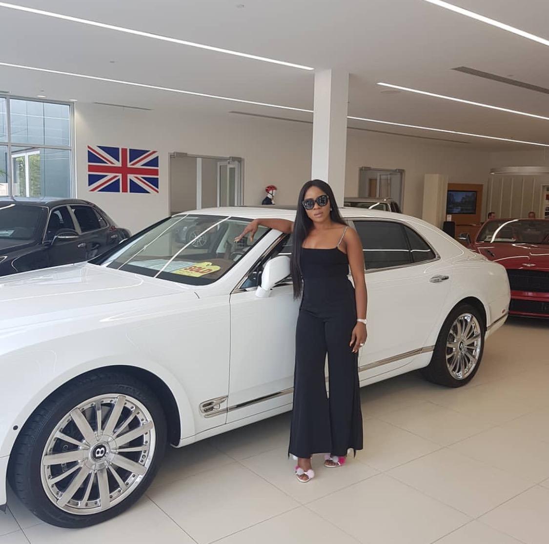 Linda Ikeji Media entrepreneur buys Bentley Mulsanne worth $305,000 for son