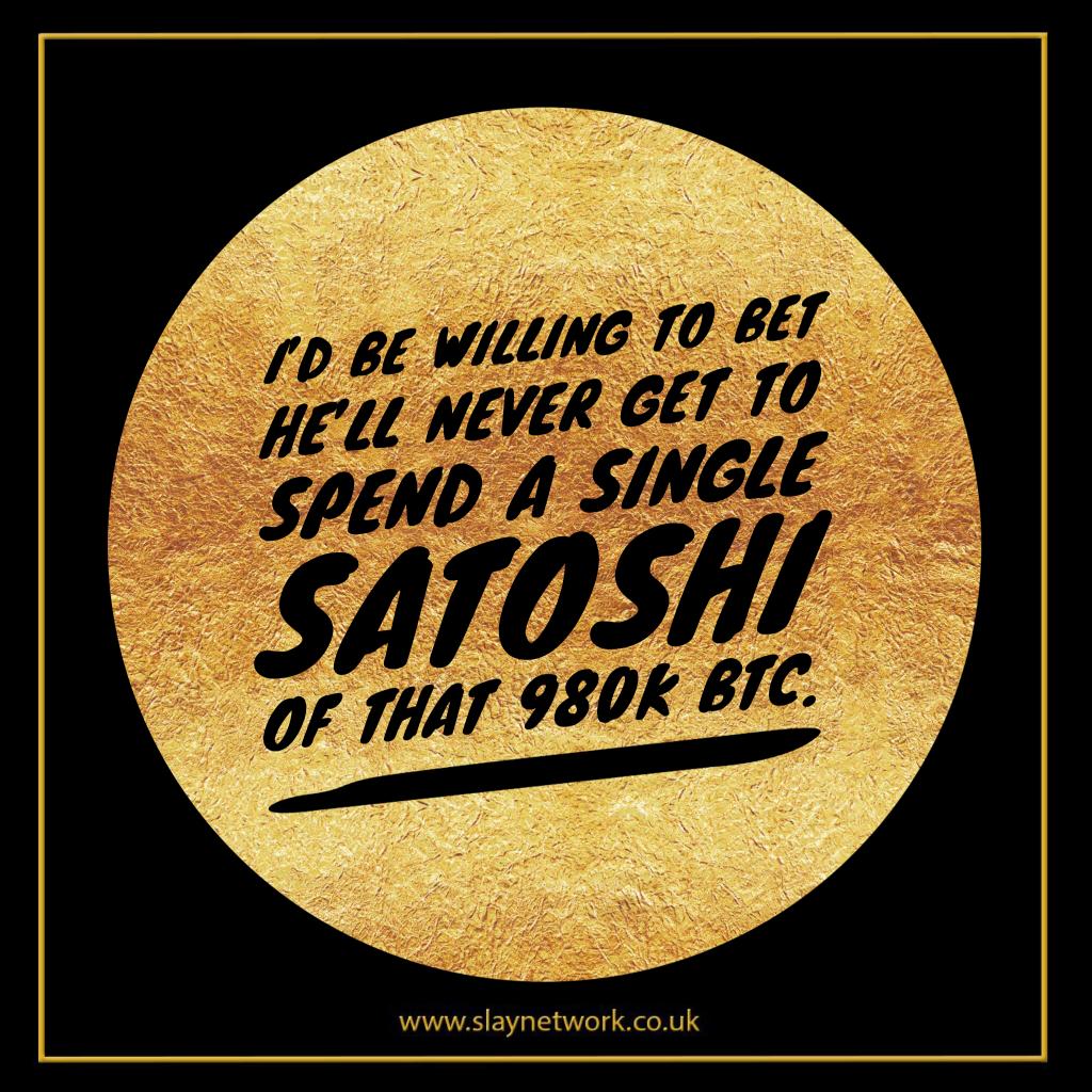 How many Bitcoin has Satoshi Nakamoto spent?