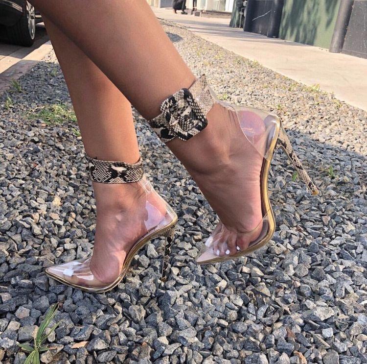 Python transparent shoes