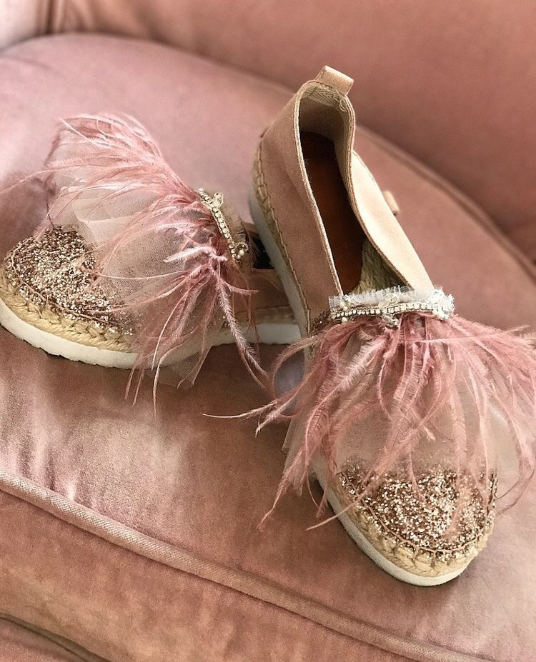 Couture rose gold women's loafers