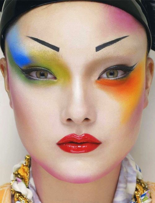 Colorful makeup looks