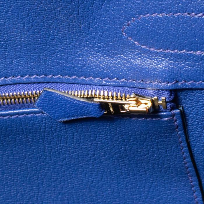 HERMES Birkin Bag 25cm Blue Electric Togo Gold Hardware