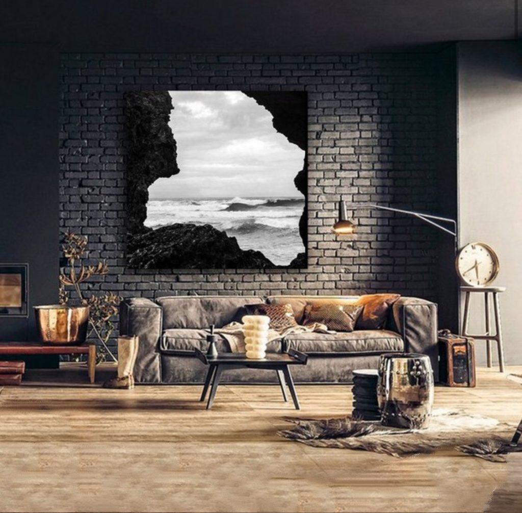 Endless waves canvas print