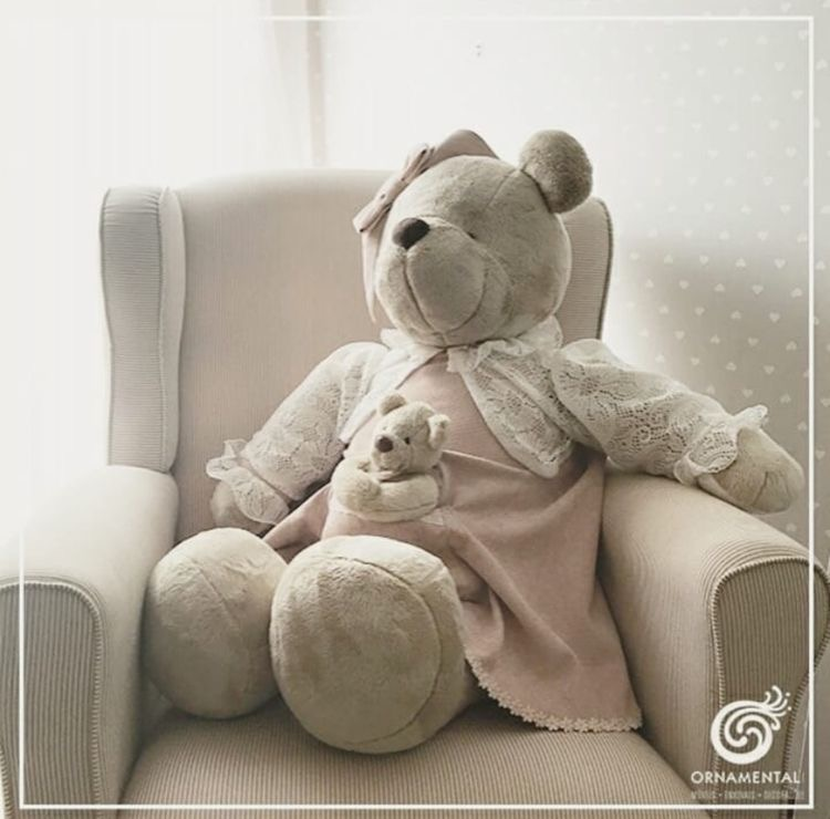 Mama bear plush doll
