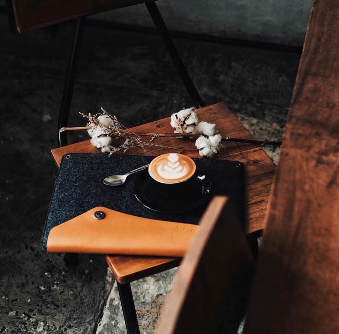 Luxury leather laptop, MacBook and iPad case