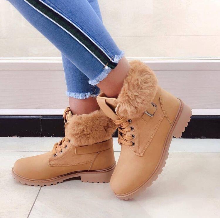 Handmade fur boots