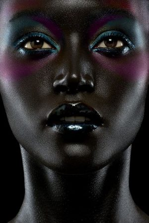Can I get away with colourful makeup on very dark skin