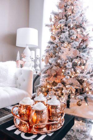Christmas tree and eggnog milkshake vibes