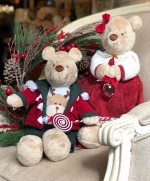 Luxe Christmas plush teddy bear