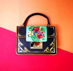 Luxury floral handpainted mini bag