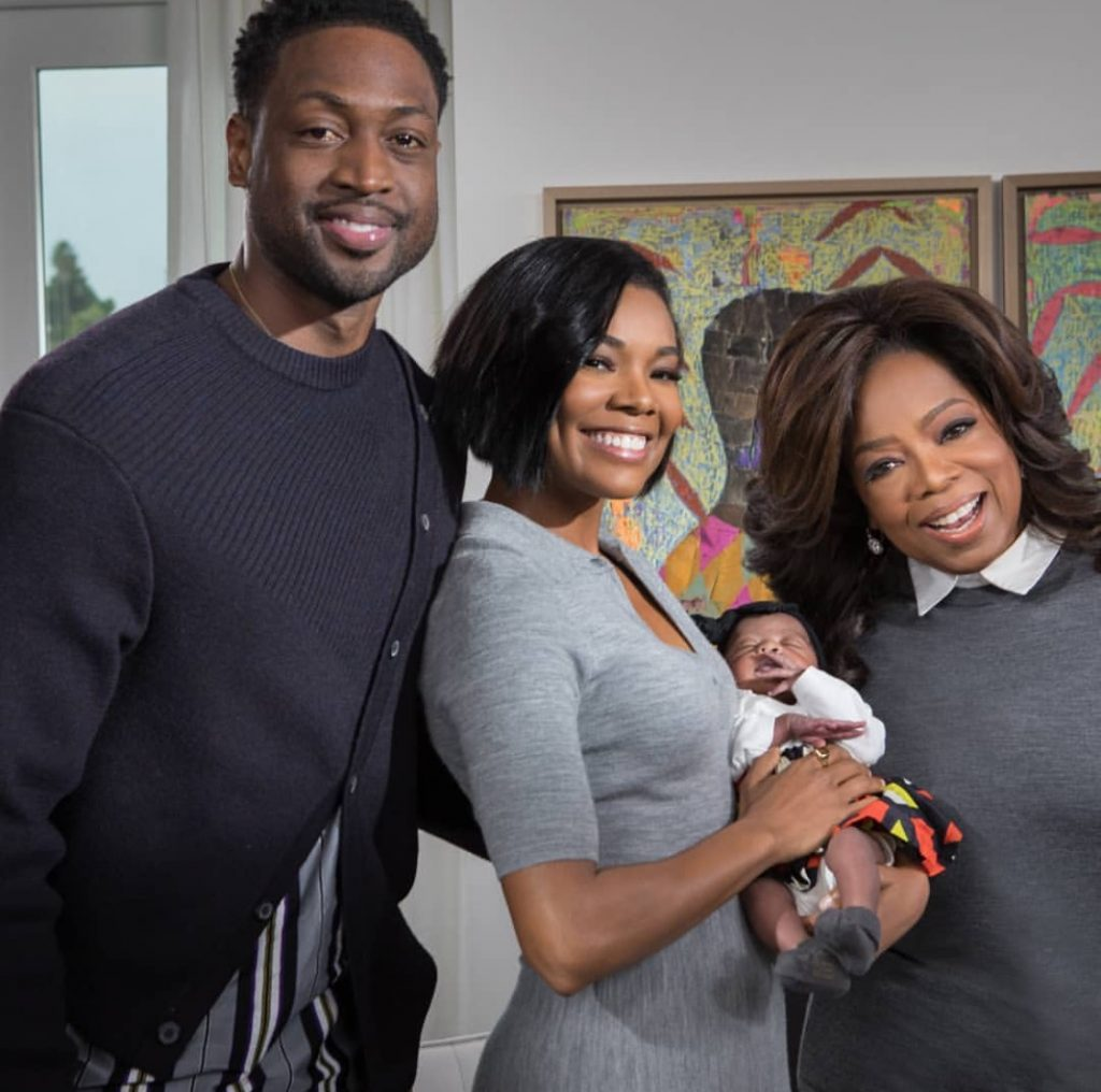 Gabrielle Union and family hang out with Oprah
