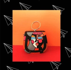 Cosmic hand painted Chic bag