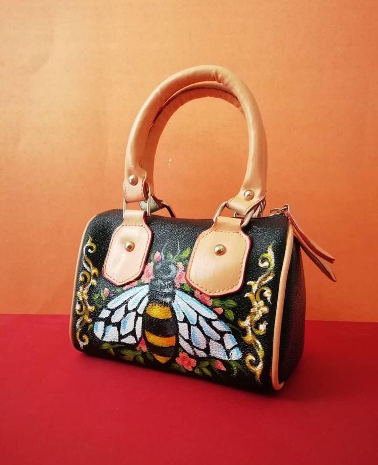 Hand painted bug bag