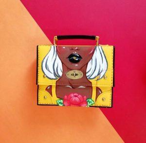 Bright yellow pop art bag