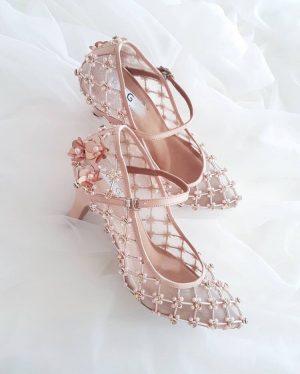 Beaded bridal Shoes