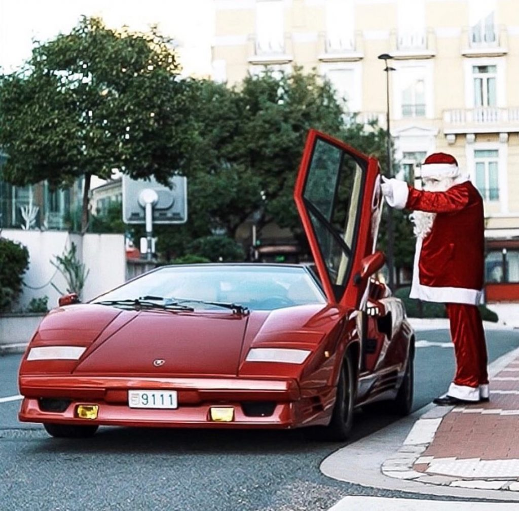 When Santa Clause Met Lamborghini Countach Sleigh Slaylebrity