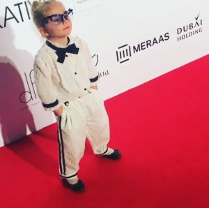Kids high fashion red carpet look