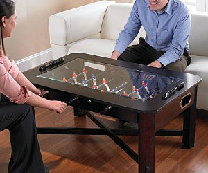 Modern coffee foosball table