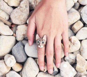 Handmade cat Ring
